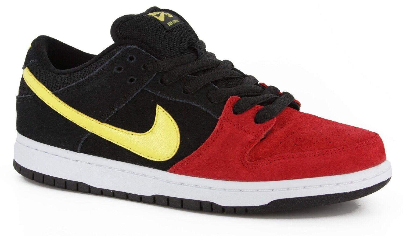 Nike DUNK LOW PRO SB Black Sonic Yellow Univ. Red Discounted (285) Men's Shoes