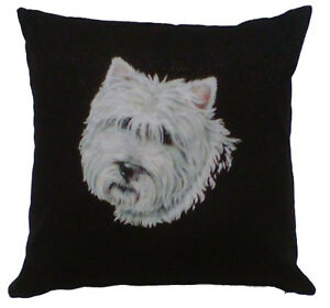 West-Highland-Terrier-Westie-Irish-Linen-Cushion-Scotland-Scottish-New