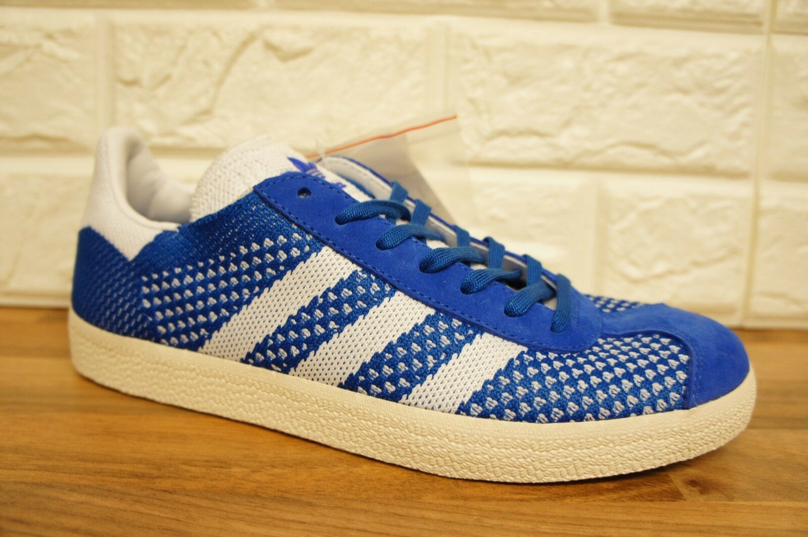 Adidas Gazelle Primeknit Talla 6.5 Reino Unido Para Hombre Zapatillas BNWB BB5246 Azul Y blancoa