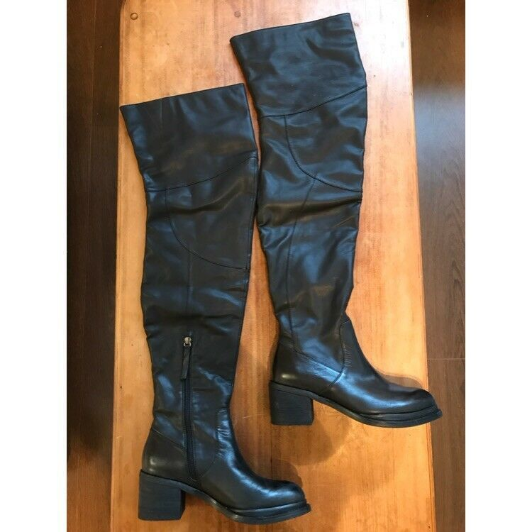 Jeffrey Campbell sergeant over the knee boots UK6
