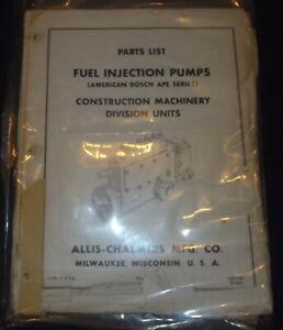 Allis Fiat Bosch PSB Fuel Injection Pump Parts Manual