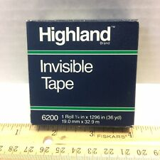 1 Roll 3m Highland 6200 Invisible Matte Tape 34in X 1296in 36yd Made In Usa