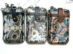 NWT* SakRoots Artist Circle Phone crossbody wristlet bags / vertical