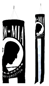 POW-MIA Prisoners of War Missing In Action Super 5' Windsock