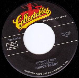 "CHUCK BERRY - Anthony Boy   7"" 45"