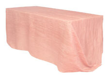 90 x 156 inch Rectangular Crinkle Taffeta Tablecloths Blush