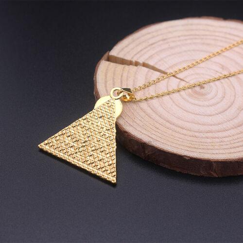 Egipcia collar cadena colgante pirámide queda-cruz henkel cruz de oro de colores