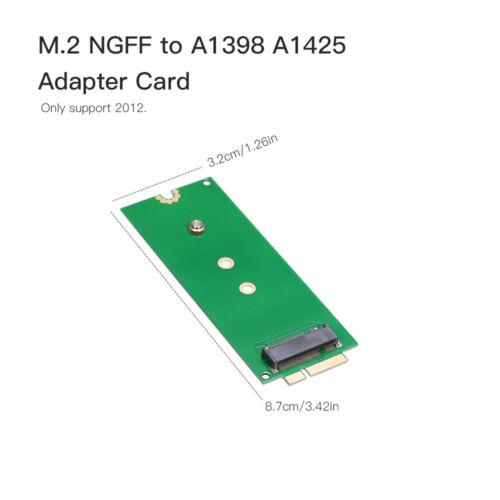 M.2 NGFF SATA KEY B+M SSD to 2012 Pro A1425 A1398 SSD HDD Converter Card S0O9