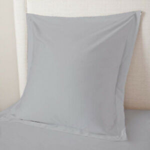 European-Pillow-Shams-Set-of-2PCs-Silver-Euro-Pillow-Sham-SOLID-500TC-100-COTTON