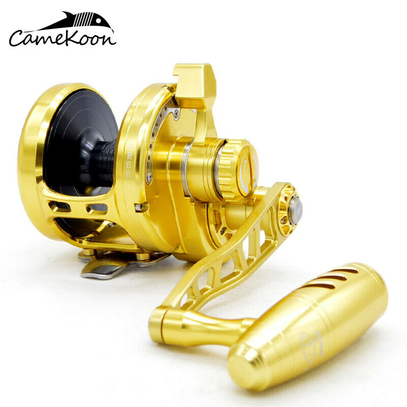 CAMEKOON HU50 Saltwater Lever Drag Fishing Reel - over 70  LB Carbon Fiber Drag  select from the newest brands like