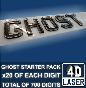 Details about 4D 3D Ghost Laser Cut CLEAR Number Plate Letters Digits  Wholesale BULK TRADE kit
