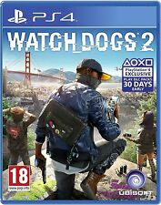 BRAND NEW SEALED WATCHDOGS 2 WATCH DOGS 2 PS4 GAME (BOX DAMAGED FROM ONE SIDE)