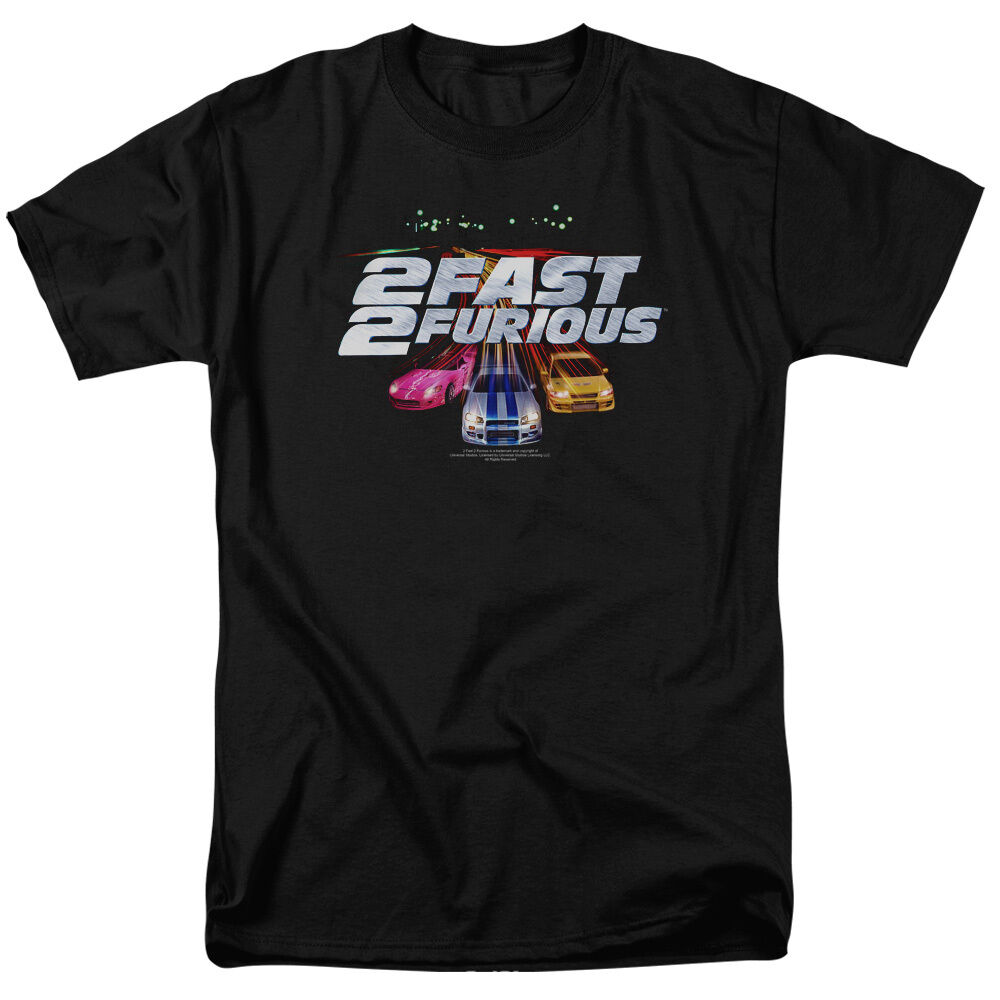 2 Fast 2 Furious Movie LOGO Licensed Adult T-Shirt All Größes