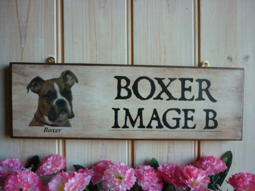 HANDMADE BOXER DOG SIGN PERSONALISED DOG SIGN BEWARE OF THE DOG SIGN GARDEN SIGN
