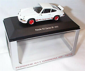 PORSCHE-911-CARRERA-RS-1973-Bianco-Scala-1-43-NUOVO-IN-SCATOLA-PORSCHE-911-Collection