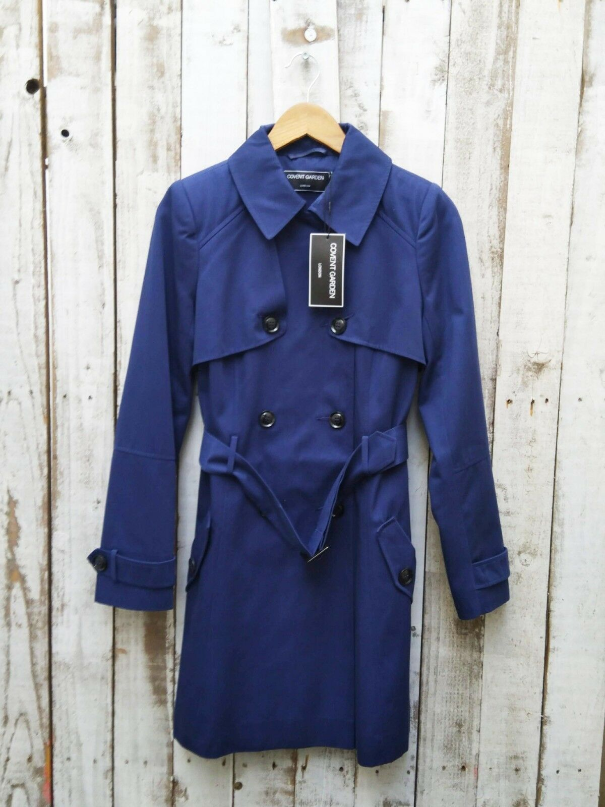 Covent Garden Classic Trench Coat In bluee Size  10   Was Selling At Asos