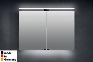 Spiegelschrank 100 cm Bad LED Beleuchtung Badezimmer doppelt ... | {Spiegelschrank bad mit beleuchtung 69}