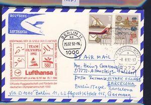 48879-LH-Olympiade-SF-Berlin-Barcelona-25-7-92-Karte-ab-Malta