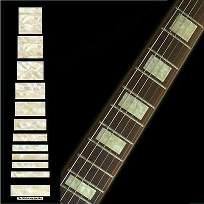 Block (Aged White Pearl) Fretboard Markers Inlay Sticker Decal Guitar