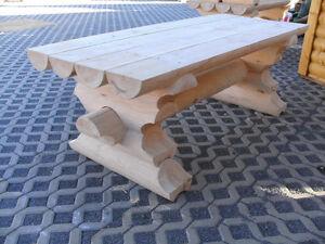 Rbt 2m Rundbohlen Tisch Massiv Holztisch Gartentisch Biergartentisch