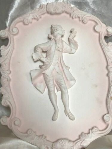 1-Small-French-Louis-XVI-Rocco-Style-Gentleman-Dandy-Plaster-Wall-Plaque