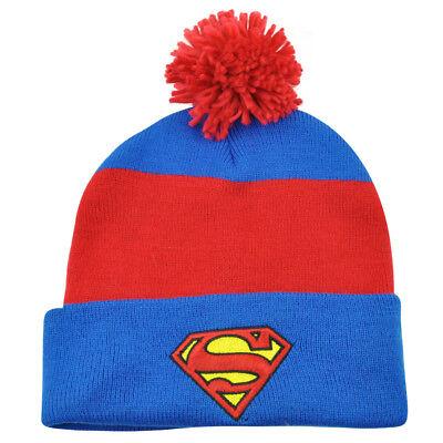 Weitere Ballsportarten UnabhäNgig Superman Dc Comics Schild Logo Pom Gestreift Beaniemütze Bündchen Strickmütze Gute WäRmeerhaltung Fanartikel