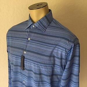 caa5ba157729 Peter Millar Summer Comfort Men s Long Sleeve Button Front Shirt 2XL ...