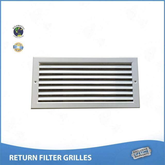 "44/"" x 10/"" RETURN FILTER GRILLE Easy Air Flow Flat Stamped Face White"