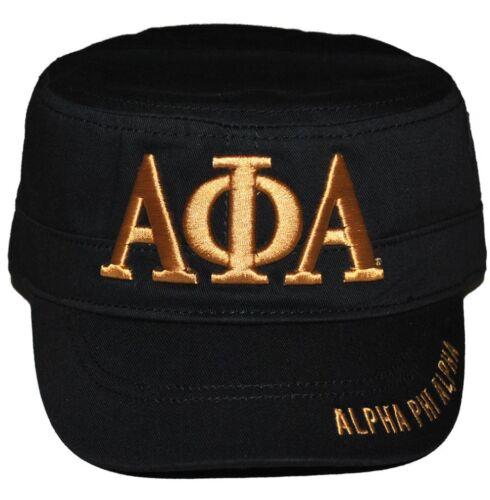 Alpha Phi Alpha Mens New Adjustable Captain Cap Black