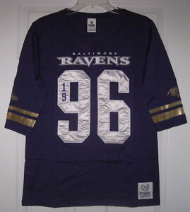 NWT VICTORIA S SECRET PINK NFL BALTIMORE RAVENS GOLD XS JERSEY CREW ... bc3bf1191