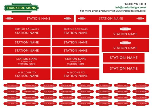 British Railways London Midland Region Model Railway Station Name Signs O Gauge
