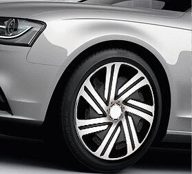 "4x14"" wheel trims for mazda 2 3 323 full set silver - black 14"
