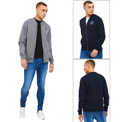 2019 Mode Threadbare Mens Designer Baseball Bomber Casual Soft Lined Casual Zip Up Jacket