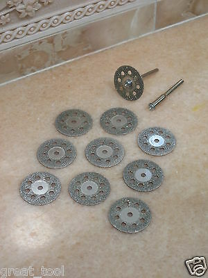 10 THK 9H Diamond 30mm rotary cutting wheel GRIT 120 cut off blade Grinding disc