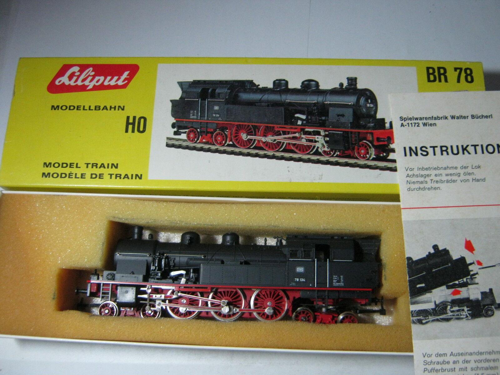 Liliput HO 078 vapore locomotiva btrnr 78 134 DB  rg/bb/72s1