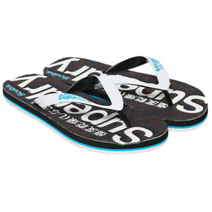 29d046c7ca4a Superdry NEW Women s Scuba Grit Flip Flops - Optic White   Fluro ...