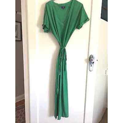 Sportscraft Green Linen Maxi Dress Size 12