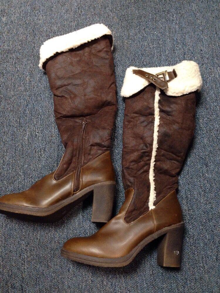 Splash Boots Brown Size 9 Knee High Heels