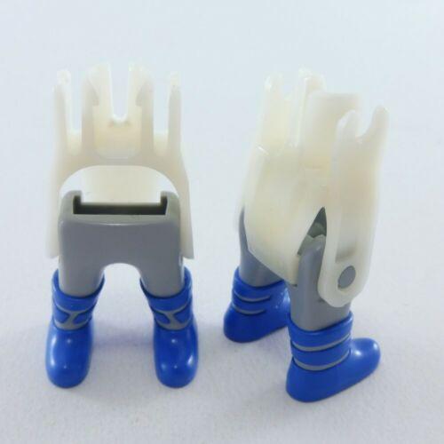 26951 Playmobil Lot de 2 Paires de Jambes de Nain Grises avec Bottes Bleues