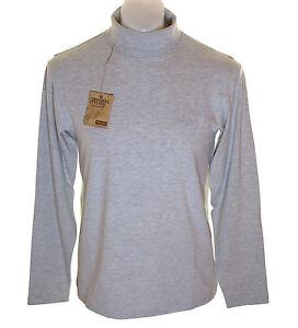 Bnwt-Mens-Wrangler-Long-Sleeve-Stretch-Polo-Roll-Neck-Top-T-Shirt-Xlarge-XL-Grey