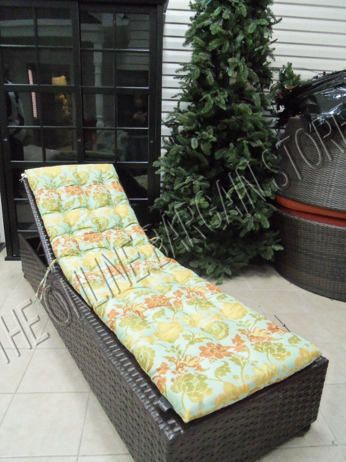 Frontgate grandinroad Al Aire Libre Patio Chaise Cojín Ombre Seaglass Floral 23x78