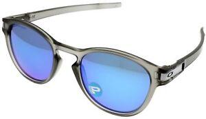 46c1db620c Image is loading Oakley-Sunglasses-Men-Latch-Sapphire-Iridium-Polarized-Oval -
