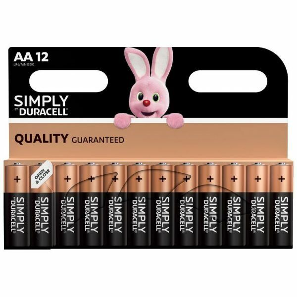 12 Duracell Simply AA Batteries 1 Pack of 12 Great for lots of devices free del