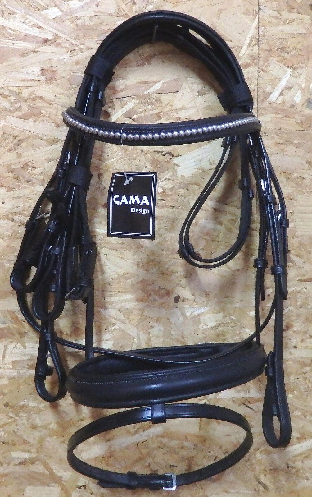 Cama Trense ,  Gr.Warmbluet, engl.RH,black, Antislipzügel. (3)  free delivery and returns