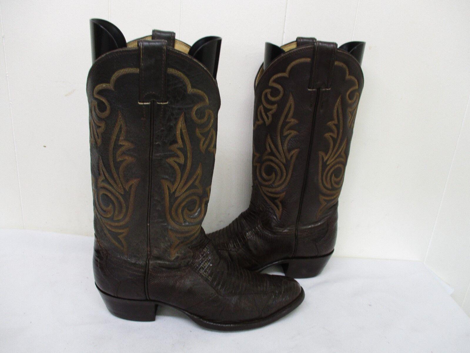 Justin Marrón Cuero De Lagarto botas de D vaquero Hombre tamaño D de 8 estilo 8387 Usa 887e2a