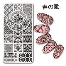 Nail Art Stamp Image Plate Stencil European Flower Theme Harunouta L026