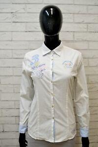 LA-MARTINA-Camicia-Donna-Maglia-Shirt-Camicetta-Taglia-S-Hemd-Bianco-Elastica