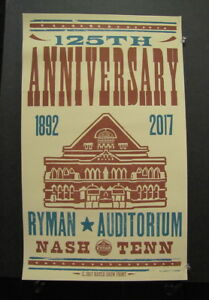 Bluegrass Nights at The Ryman Nashville Hatch Show Print Poster 2017 Vince Gill