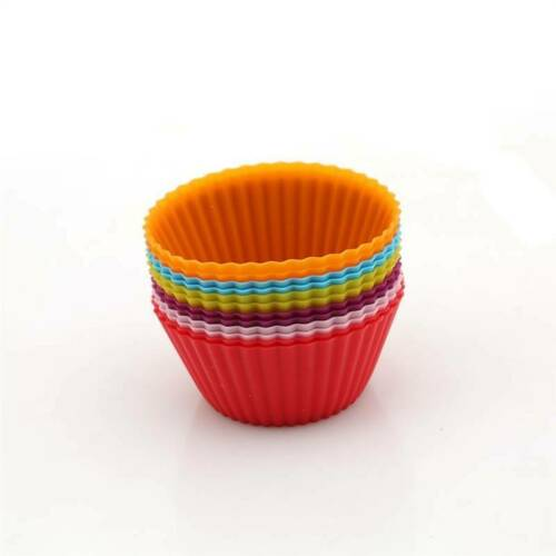 Muffin Case Cake Silicone Liner Cupcake Chocolate Cup Baking Mold Mould PF