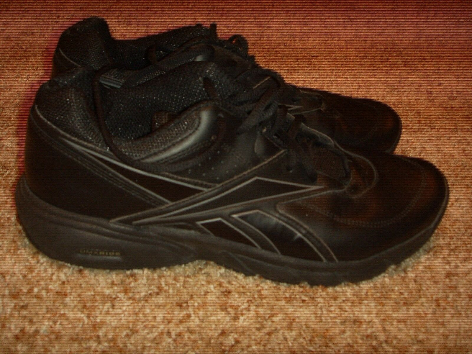 Reebok Walking DMX Ride Black Leather Mens Size 11.5